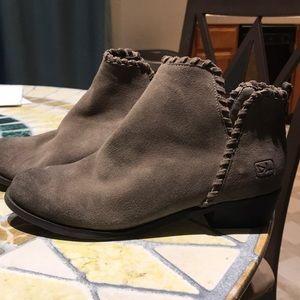 Dirty Laundry Gray Suede Booties